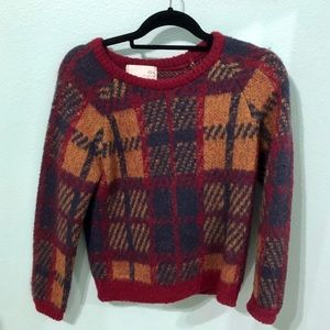 Plaid chunky sweater